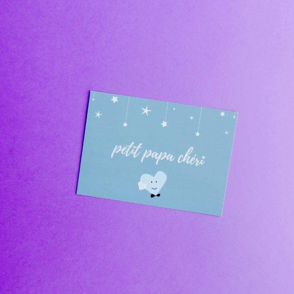 carte postale papa